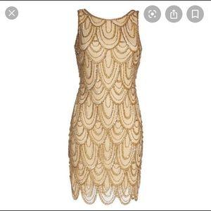 Gold sequence Pisarro Nights Dress